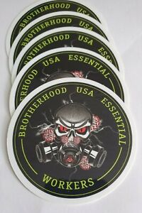 5-pack-Essential-Worker-Round-Oval-Sticker-Decal-BrotherHood-Essential-Workers