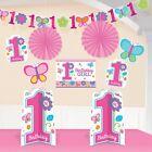 Amscan 240432 Sweet Girl 1st Birthday Room Decorating Kit Pack of 12