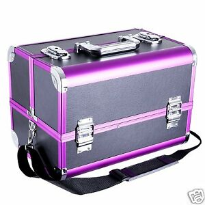 916d36f03 La imagen se está cargando Maletin-Profesional -Maquillaje-Cosmetica-Estetica-Peluqueria-Rosa-Negro-