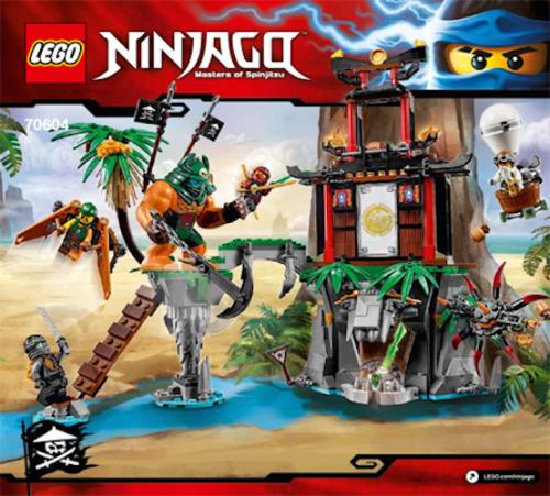Lego Ninjago Instruction Booklet Only For Set 70604 Tiger Window