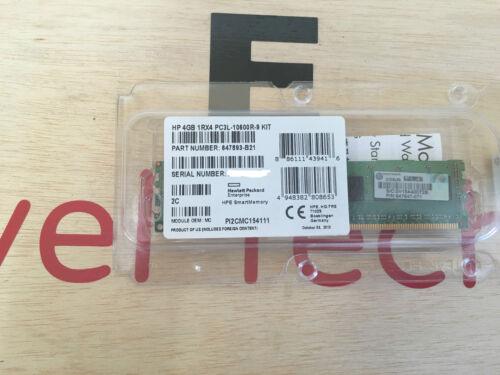 Low Power kit DIMM 240-pin 664688-001 NEW SEALED DDR3-4 GB 647893-B21