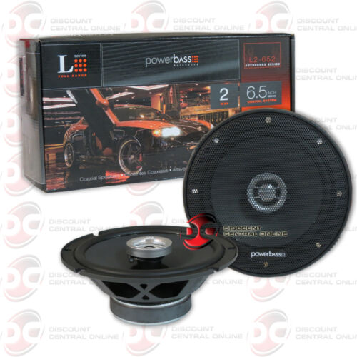 """6-1//2/"""" 360W PAIR NEW POWERBASS 6.5-INCH 2-WAY CAR AUDIO COAXIAL SPEAKERS"""