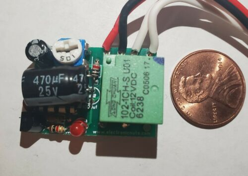 CAR TIMER SWITCH AIRBAG LIGHT RELAY 1 TO 10 SEC KIT DELAY OFF 12V 1A Inspection