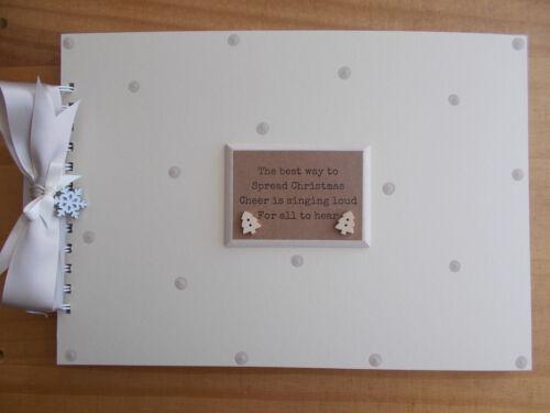 PERSONALISED CHRISTMAS NAN FAMILY PHOTO ALBUM MEMORY BOOK SCRAPBOOK ANY WORDING