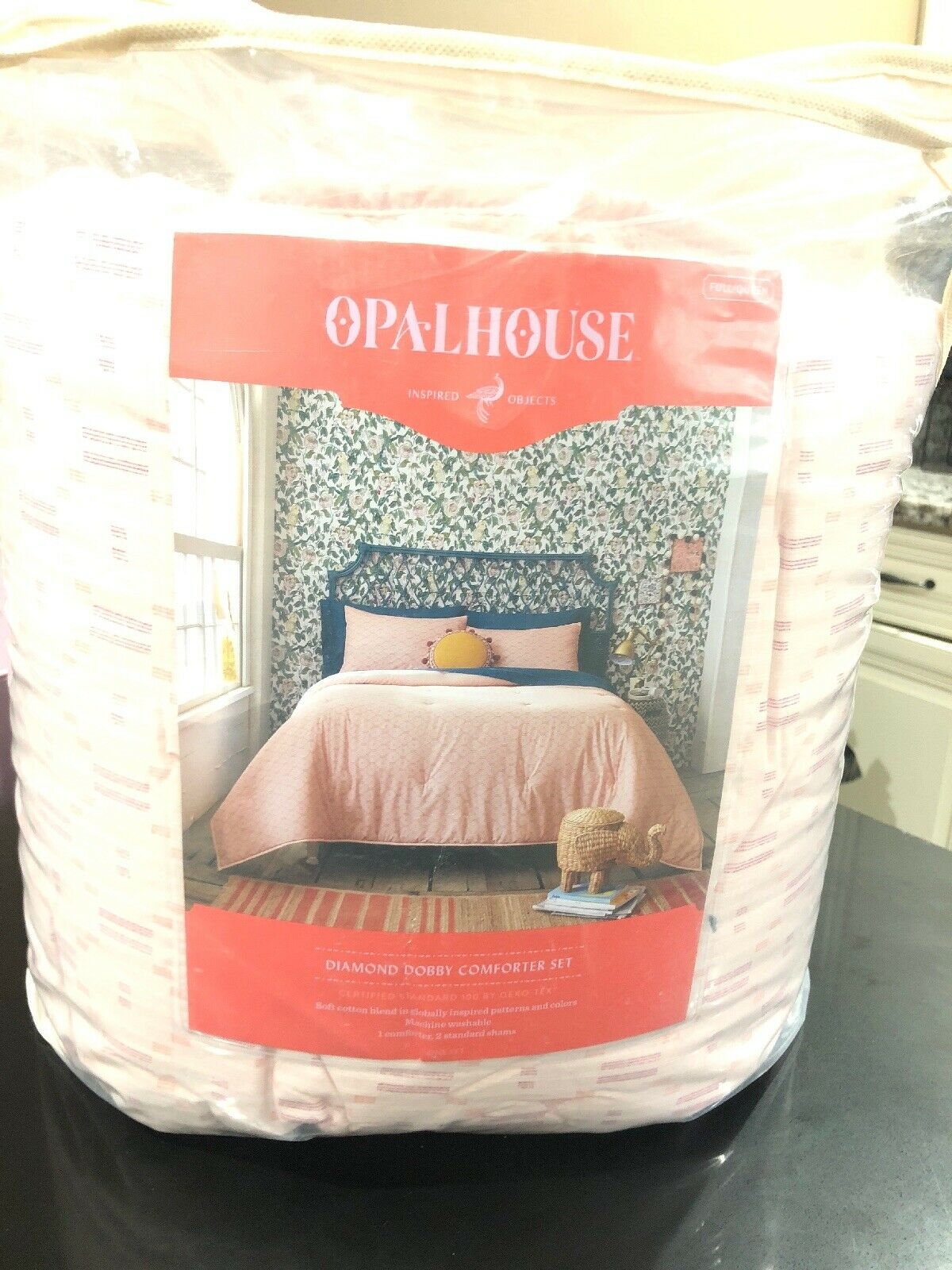 Opalhouse Full Queen Diamond Dobby Comforter Set 1-comforter 2-shams.
