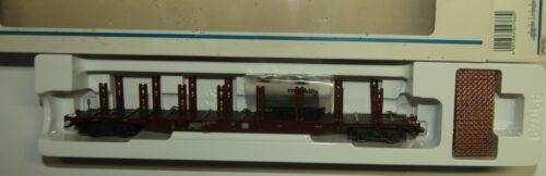 Baustahlmatten KKK. Märklin H0 4766 Rungenwagen Sups 719 DB 4 Achsen rotbraun