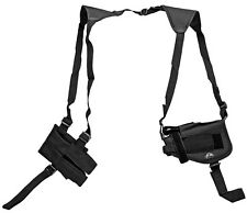 Black Gun Double Shoulder Holster w/ Clip Pouch BB Airsoft Pistol Handgun 5907