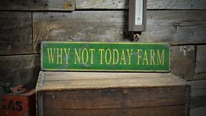 Custom Farm Name Sign Rustic Hand Made Vintage Wooden Sign