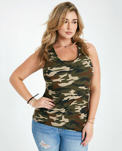 778b29b4d6a PLUS SOFT Buttery Olive CAMO tank top camouflage Army HOT KISS S M L ...