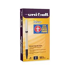 uni-ball Deluxe Rollerball Pens Fine Point 0.7mm Gold Barrel Black Ink 12pk