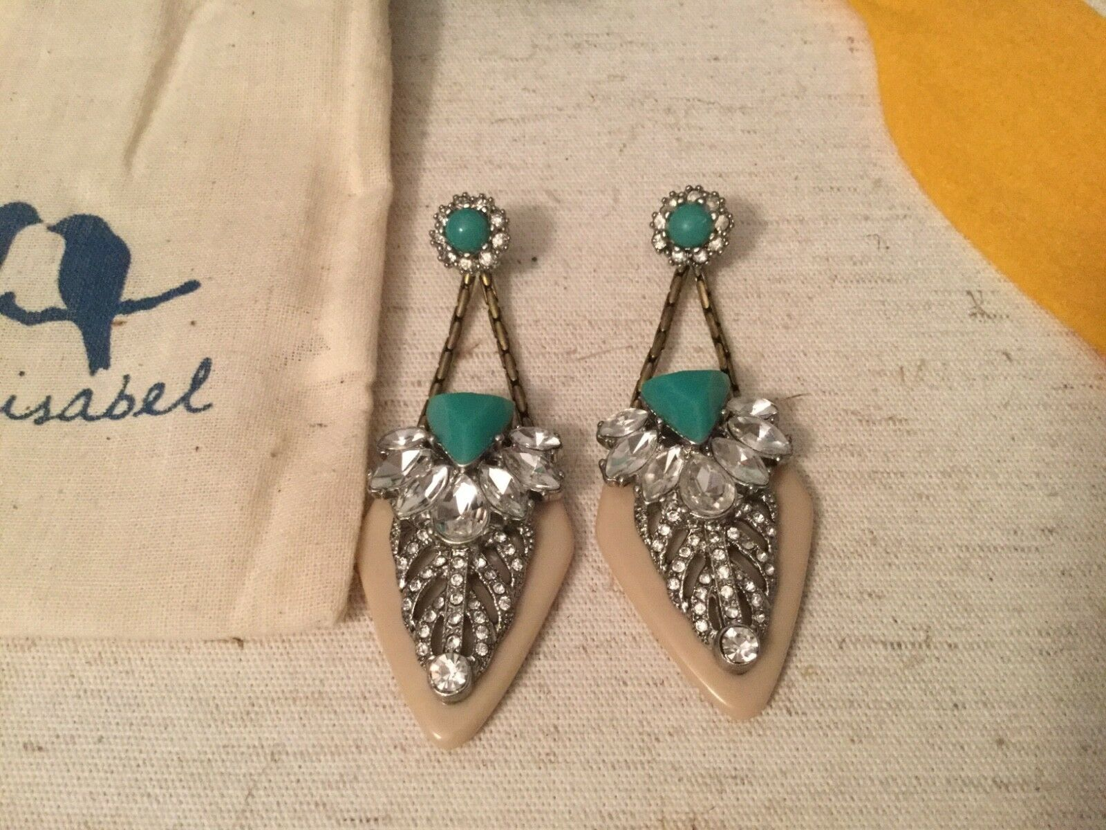 Chloe + Isabel Palm Royale Congreenible Statement Earrings E252 Rare New in Bag