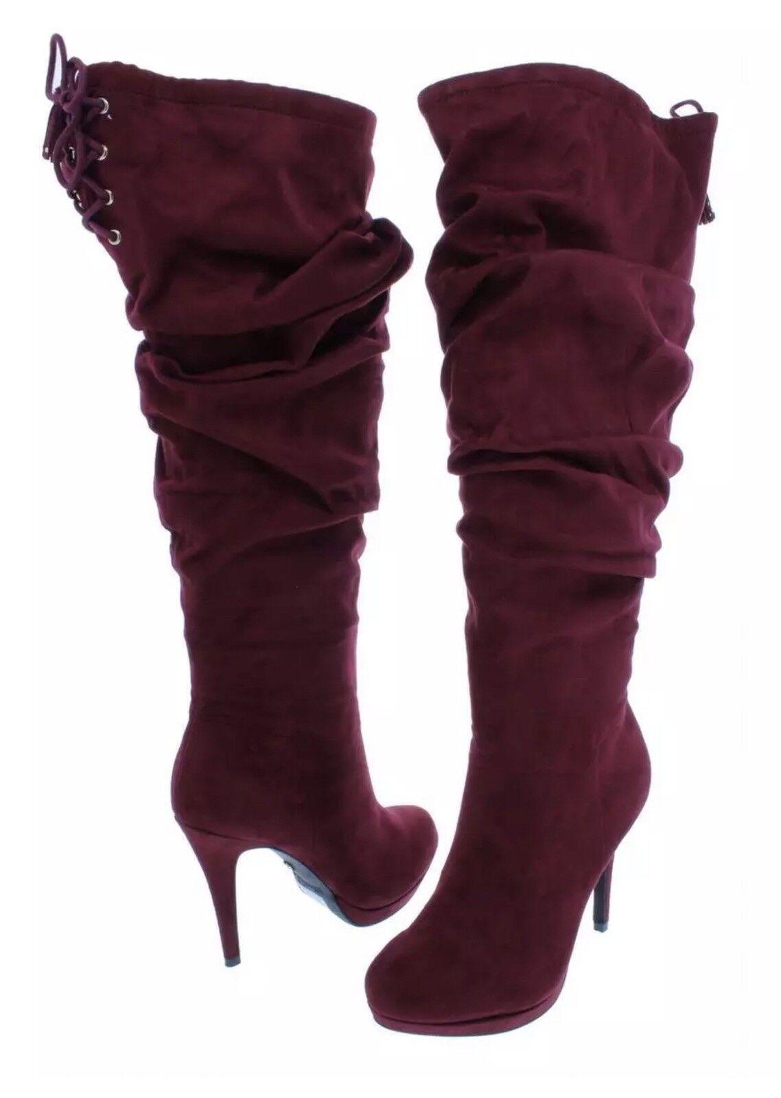 Thalia Sodi Womens Womens Womens Brisa Red Dress Boots shoes 11 Wide Retail  225.00 935539