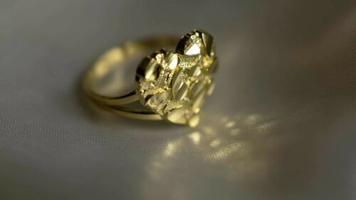Authentic 10k Gold Heart Nugget Rings for Girls