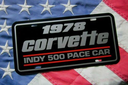 1978 INDY 500 Pace Car Corvette license plate tag 78 INDIANAPOLIS Vette