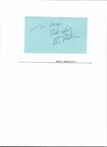signed by ex darts champion eric bristow.