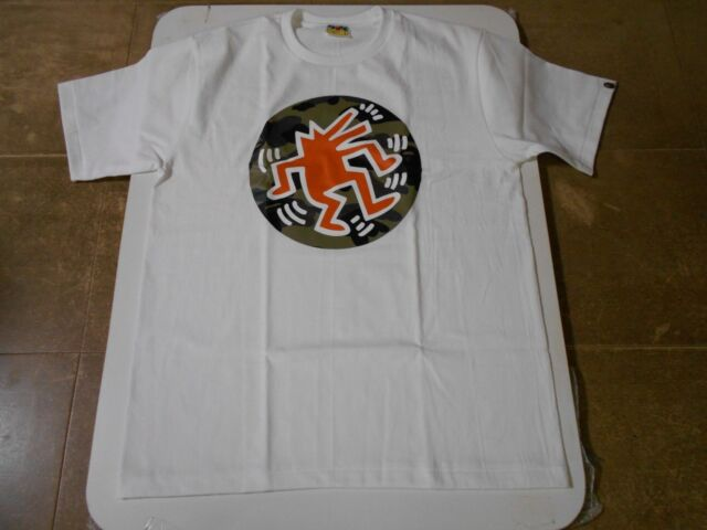 1740ff72 Authentic A Bathing APE BAPE x KEITH HARING TEE #5 T SHIRT WHITE L NEW