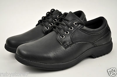 Men's Black Restaurant Work Shoes Lace Up Slip & Oil Resistant Medium(D,M) 5805