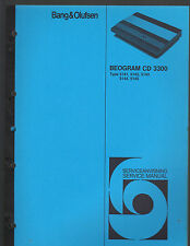 Bang & Olufsen Repair/Service Manual~BeoGram CD 3300~5141/5142/5143/5115