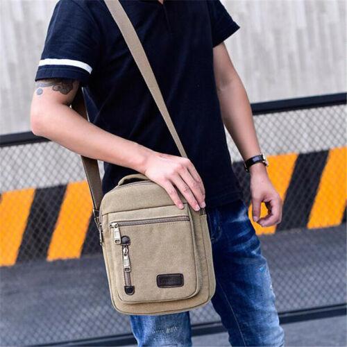 Mens Canvas Crossbody Shoulder Bag Messenger Bag Satchel Urban Daily Handbag MP