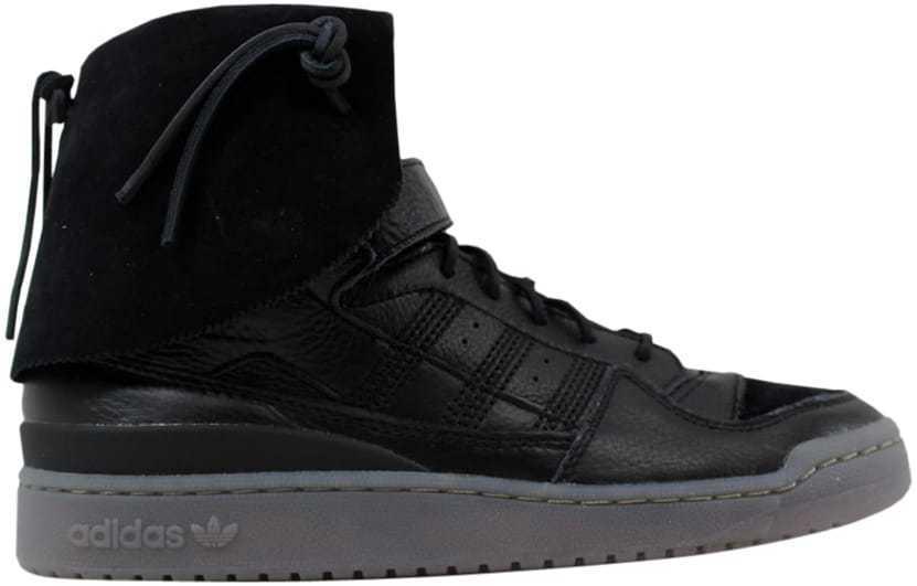 Adidas Forum Hi Moc Black Black-Clay B27670 Men's SZ 9.5