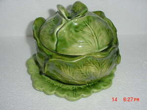 1974 Cabbage Soup Tureen With Under Plate By Holland Mold Ebay