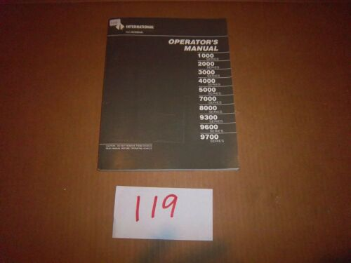 1989 International 1000 2000 3000 4000 5000 7000 Truck Owners Operator Manual