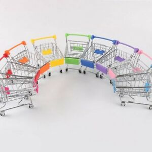 Creative-supermercado-Mini-carretilla-de-carrito-de-compras-metal-simulacion-Chico-Juguete-1