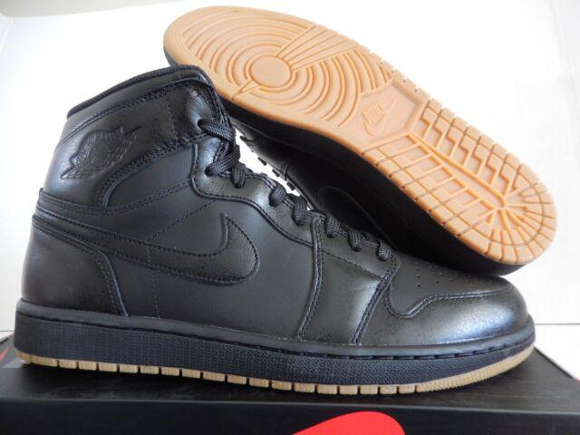 5f7fc9bd47c1 Nike Air Jordan 1 Retro High OG Black-black-gum Light Brown Sz 14 ...
