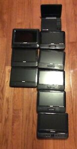 Lot-of-7-Portable-DVD-Players-amp-2-Dual-Screens-Philips-amp-Sylvania-Parts-ONLY
