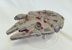 Star Wars Disney Store Deluxe Die Cast Millennium Falcon With Display Stand