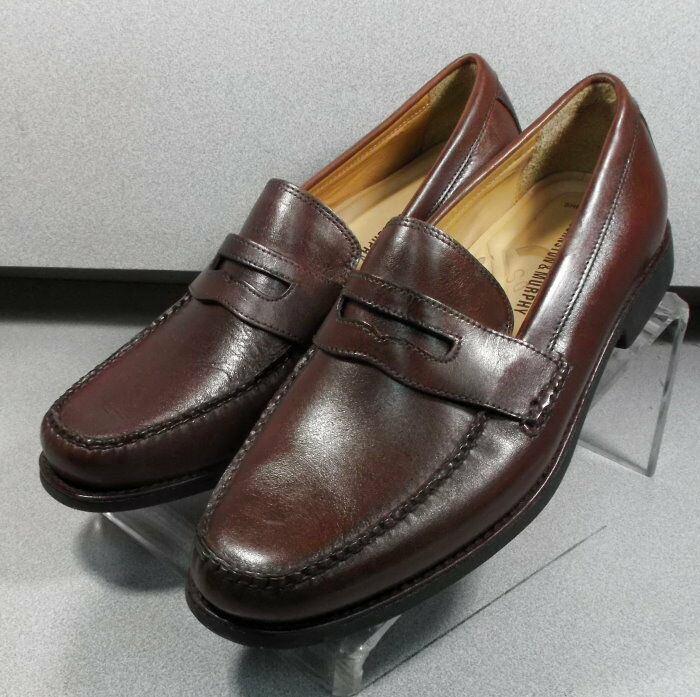 98fd0c1acae 207796 DS50 Men s shoes Size 9 M Brown Leather Slip On Johnston   Murphy