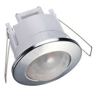 Mini Infrarot Bewegungsmelder Unterputz Einbau Decke Wand 360° IP20 6m PIR f LED