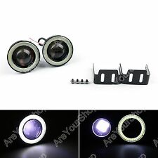 "3.0"" LED Nebelleuchte Projector White Angel Eye COB Halo Ring DRL Driving Bulbs"