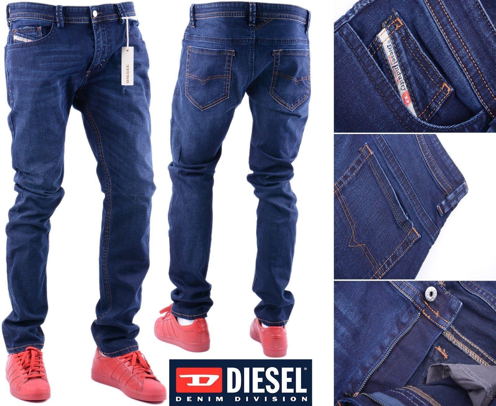 DIESEL THAVAR 0677J W32 L32 Mens Mens Mens Denim Jeans Regular Fit Straight 7c7537