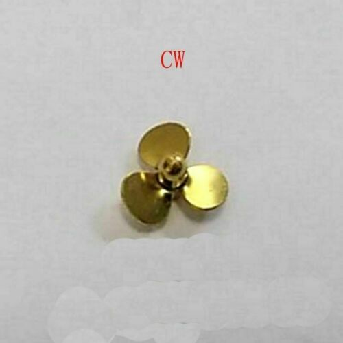 Copper Prop CW CCW Propeller Hole Dia 2mm Propellers 3-blades Paddle For RC Boat