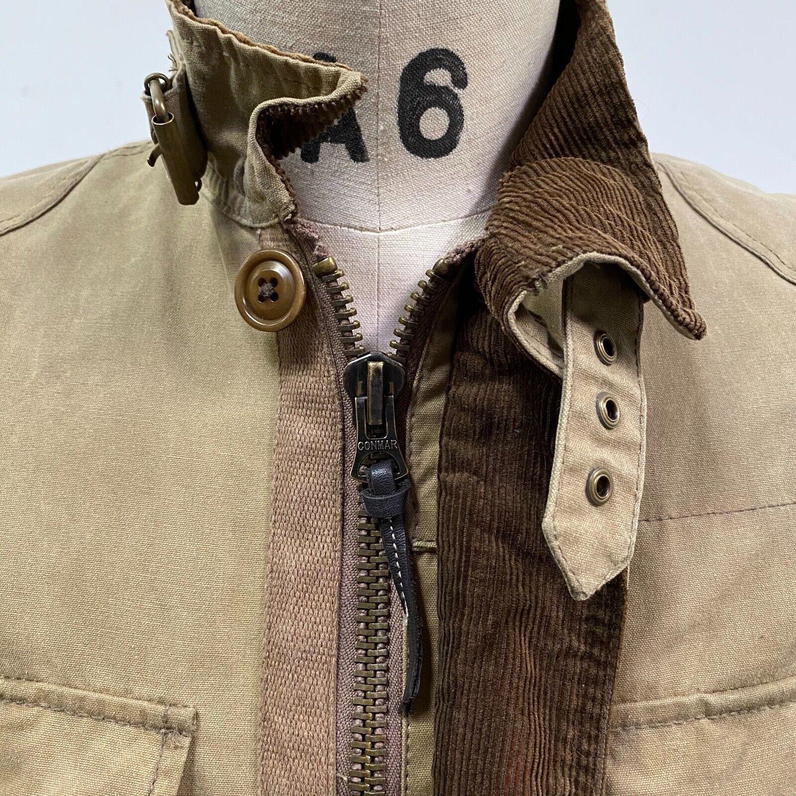 J.Crew Field Jacket Size XS Brown Wax Distressed - image 6