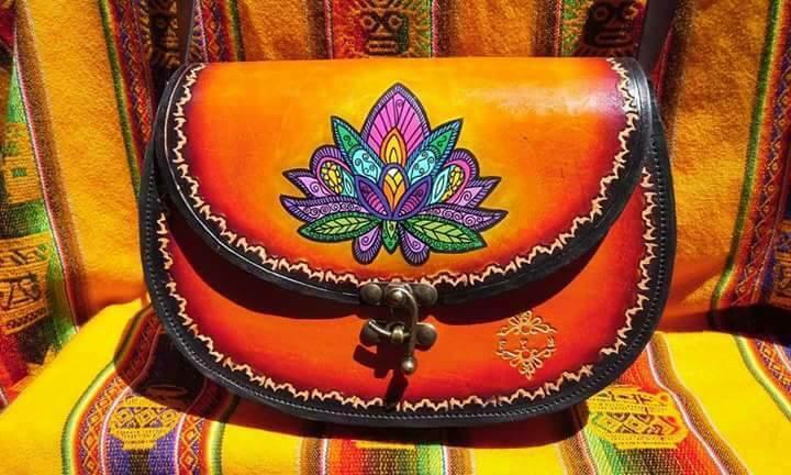 Damas Bolso De Mano De Cuero De Diseño Hermoso Antiguo