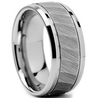 Tungsten All Size Mens Carbide 8MM Silver Wedding Band Ring Never Tarnish SR95