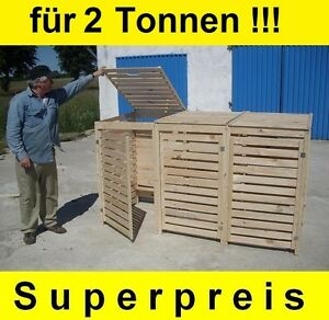 m lltonnen box m llbox f r 2 tonnen m llcontainer massivholz neu top angebot ebay. Black Bedroom Furniture Sets. Home Design Ideas