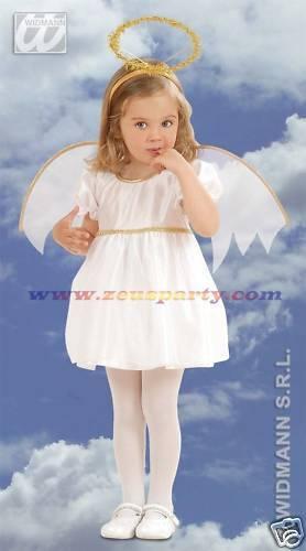 NATALE COSTUME ANGIOLETTO bambina 2-3 anni 104cm nativita/' carnevale
