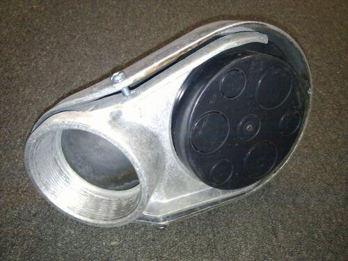"1-1//2/"" Weatherproof Head Metal Service Entrance Cap Threaded Aluminum"