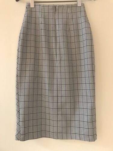 Zara Contrastated Nuovo blu bianco Skirt Xs Sz Womens TfOwTAqS