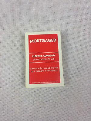 Fedele Monopoly Edizione Deluxe Ipotecato Schede Ricambi * *-mostra Il Titolo Originale Alleviare Il Calore E La Sete.