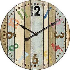 "Extra, Extra Large Retro Shabby Chic Wall Clock. 58cm Diameter (22"" +) 8109"