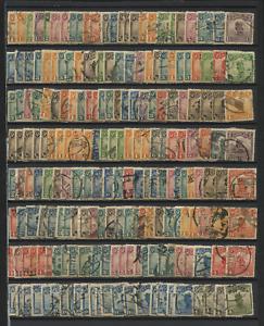 ROC china 1913-25 Junk London & 1st & 2nd Peking Print 200 stamps used