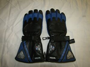 Akito Mercury Plus Black Blue Leather Winter Motorcycle Gloves Ebay