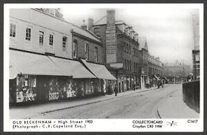 Beckenham-Old-Beckenham-High-Street-1903-Collectorcard-Real-Photo-Postcard