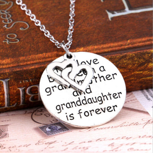 Love Between Grandmother Granddaughter Pendant Necklace Heart Family JewelrF1BC