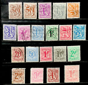 Belgium Stamps Partial Sets Of Coats Of Arms Used And Mint No Gum Ebay