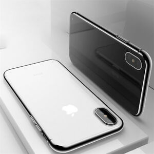 For Apple iPhone XS Max XR Slim Silicone Soft Clear TPU Shockproof Case Cover